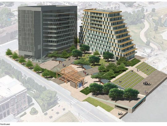Rendering of a Des Moines Federal Courthouse project