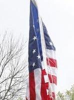 Flag hoisted in the Beechmont neighborhood in April.