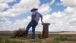 Max Taylor of Hopi Water Resources checks out a  new