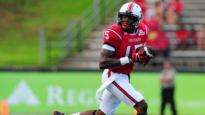 Ragin' Cajuns wide receiver Jamal Robinson set career-highs in 2013 with 54 receptions for 862 yards and eight touchdowns in the 2013 season.