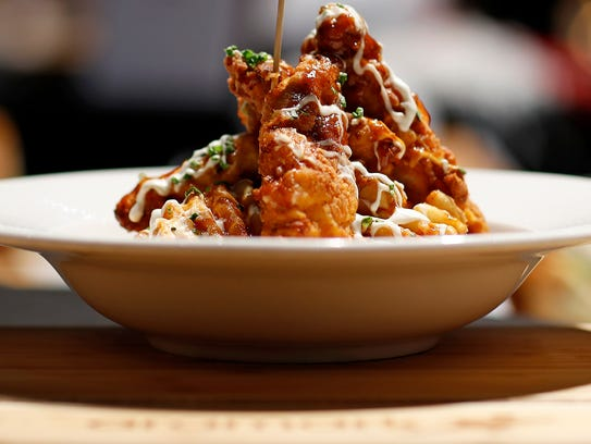 """Aramark unveiled the """"ATL Fried Chicken Stak"""" for the"""