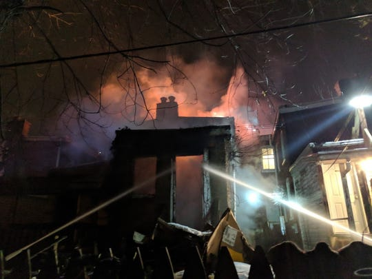 Wilmington firefighters, joined by other agencies, battled an early-morning blaze Tuesday at at 210 N. Franklin Street.