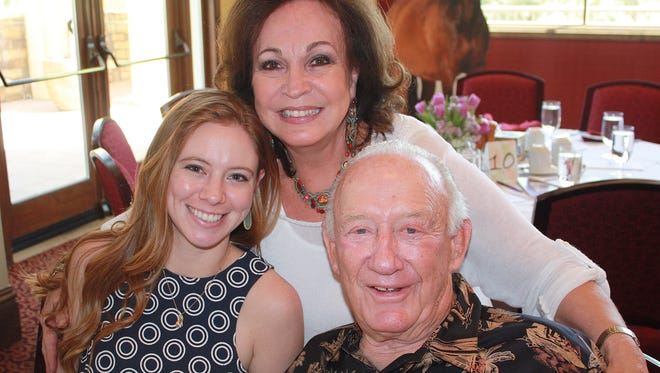 Sherrie and Ron Auen with their granddaughter Katie Reed.