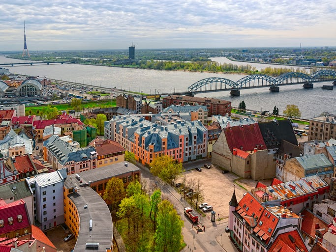 The results are in, after four weeks of voting in the 10Best Readers' Choice travel award contest for Prettiest European City, and Riga, the capital of Latvia - is the top winner. Latvia lies south of Finland, at the mouth of the Daugava River, which spills into the Baltic Sea.