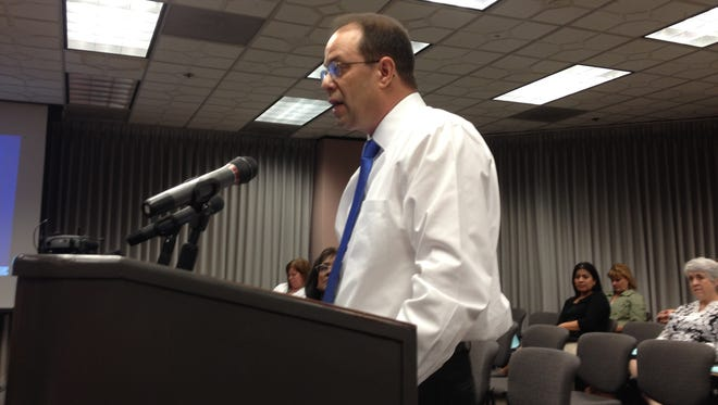 """Miguel Corzo tells the MCCCD board, """"I am being made a scapegoat and a sacrificial lamb."""""""