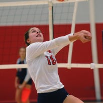 Brookfield East's Victoria Berry saves a volley against Brookfield Central on Sept. 20.