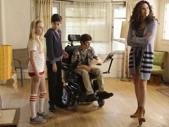 Kyla Kennedy, left, Mason Cook, Micah Fowler and Minnie