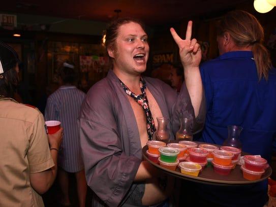 Ross Mantz hawks jello shots. Goodland celebrated the