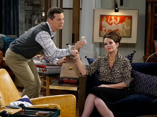 They're back: Sean Hayes and Megan Mullally star in