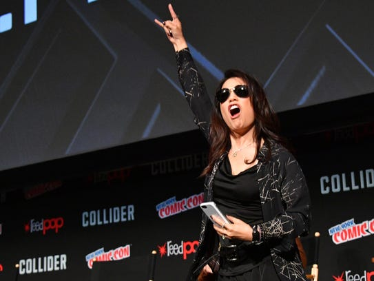 Actress Ming-Na Wen speaks at the Marvel's Agents of