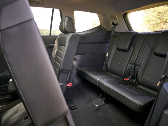 Legroom is tighter on second and third rows in the Atlas than in its competitors.