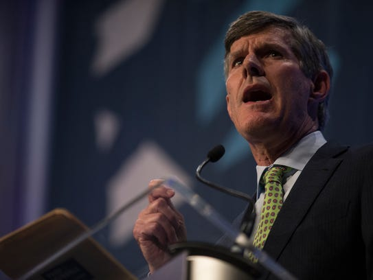 Fred Hubbell, democratic candidate for governor, takes
