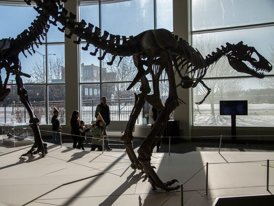 Dinosaurs at the Science Center of Iowa.