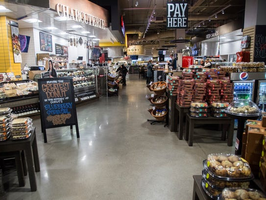 Inside Downtown Des Moines' Hy-Vee, on Wednesday, Feb.