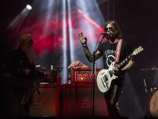 Eagles of Death Metal performs during the Innings Festival