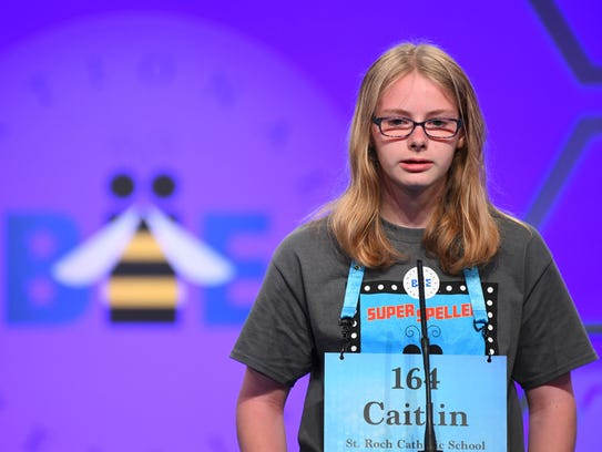 Caitlin Pooler, a seventh-grader at St. Roch Catholic