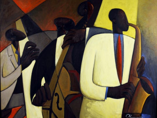 """Jazz at Takoma Station"" by Maryland artist Joseph Deweese Holston is on view in an exhibition opening Oct. 3 at the Washington County Museum of Fine Arts."