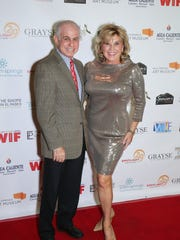 Former Palm Springs Women in Film & Television President Patti Gribow with board member Mitch Blumberg at a past PSWIFT event.