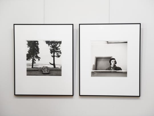 Images on the wall at 70 South Gallery Vivian Maier:
