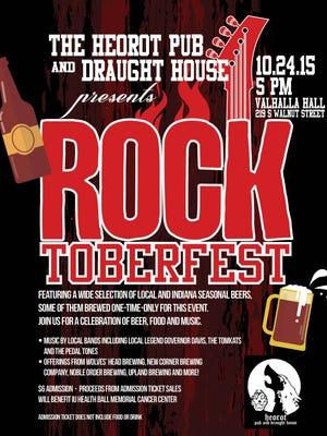 Rocktoberfest takes place Saturday, Oct. 24 at 5 p.m. inside Valhalla Hall on S. Walnut St.