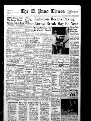 Front page that ran on Feb. 14, 1966.