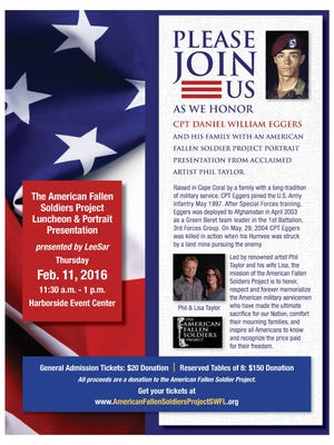 Flyer for the American Fallen Soldiers Project Luncheon