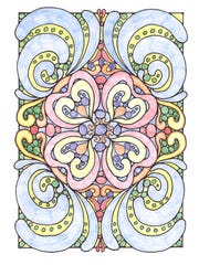 A typical design in an adult coloring book.