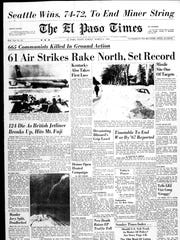 Front page of the El Paso Times on March 6, 1966. This