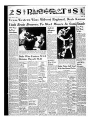 Sports page of the El Paso Times on March 13, 1966.