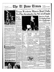 El Paso Times front page on March 19, 1966.