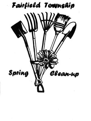 Volunteers for Saturday's cleanup day in Fairfield Township will be wearing lime green, tie-dyed t-shirts with this design created by Fairfield High School senior Lauren Deitzer.