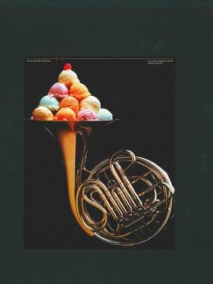 """Artist Julius Friedman's famous """"Ice Cream French Horn"""" Poster"""