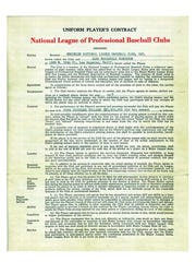Jackie Robinson's original contract with the Brooklyn