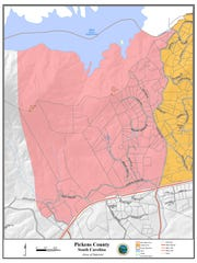 Map of evacuation area