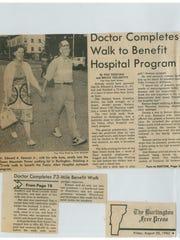 Burlington Free Press coverage of Dr. Edward A. Keenan