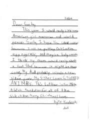 Gibraltar letter to Santa.