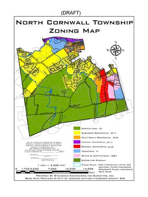The proposed zoning map for North Cornwall.