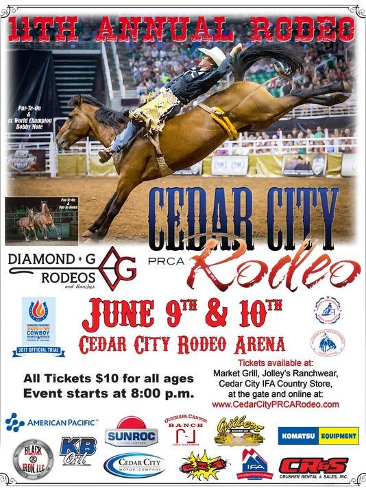 Cedar City PRCA flyer 2017