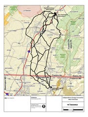 Any of a number of paths could take high-power lines from Shippensburg to Smithsburg, Md.