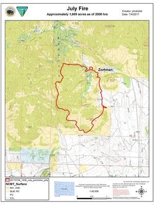The July Fire near Zortman has already burned approximately 1,669 acres.
