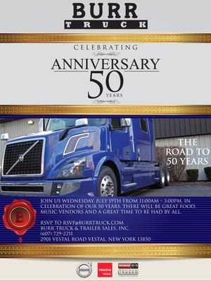 Burr Truck will celebrate its 50th anniversary on Wednesday.