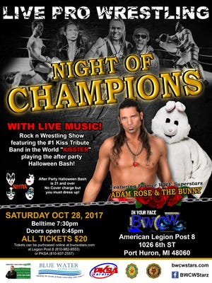 The Night of Champions event will take place Saturday at American Legion in Port Huron.