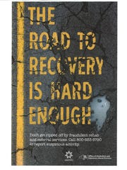Public-health campaign poster about addiction treatment