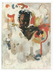 Jeff Donaldson   Study for Wall of Respect [Miles Davis], c. 1967   Mixed media (including oil) on heavy cream wove paper  24 x 18 in.