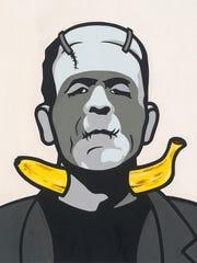 """Frankenstein from artist Trevor Wayne's """"Horror Banana"""""""