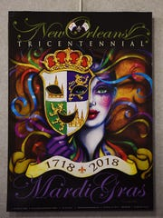 COPY PHOTO Andrea Mistretta, a local artist from Waldwick, has been doing Mardi Gras posters for years, some of which have been used as advertisements in New Orleans. An exhibit of her work is running at the Ridgewood Public Library through the end of February 2018.