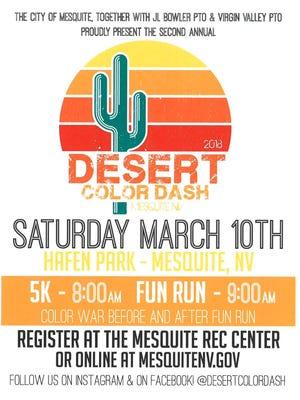 2018 Desert Color Dash flyer