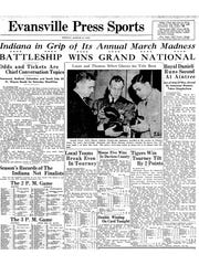 Evansville Press Sports cover from Friday, March 25, 1938.