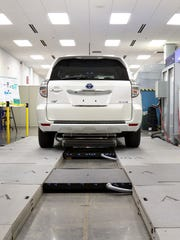 The Oak Ridge National Laboratory's National Transportation Research Center is working on ways to charge electric vehicles wirelessly, one more step toward fully autonomous driving.