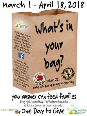 """To help ensure no child goes hungry in St. Lucie County during those lean summer months, the Van Duzer Foundation has teamed up with the St. Lucie County Fire District and Mustard Seed Ministries for the eighth year in a row to coordinate """"One Day to Give"""" on April 18."""